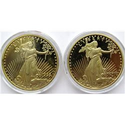 2-GOLD LAYERED .999 SILVER ROUNDS