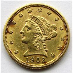 1903 $2.5 DOLLAR LIBERTY HEAD GOLD QUARTER EAGLE