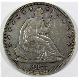 1877 SEATED HALF DOLLAR VF/XF