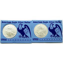 1998 & 1998 .999 SILVER ONE OUNCE EAGLE