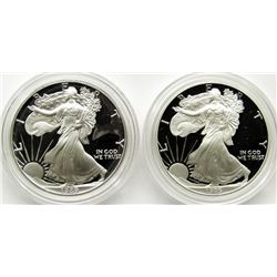 1989 & 1995 PROOF AMERICAN SILVER EAGLES