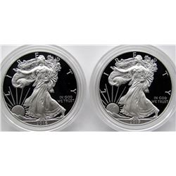 2016 & 2017 PROOF AMERICAN SILVER EAGLES