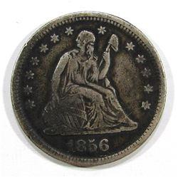 1856 SEATED QUARTER