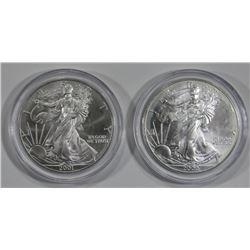2000 & 2001 AMERICAN SILVER EAGLES