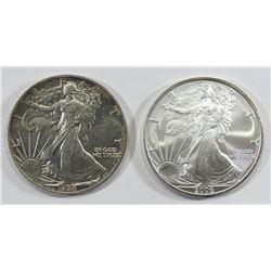 1988 & 2006 AMERICAN SILVER EAGLES