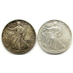 1993 & 1991 AMERICAN SILVER EAGLES