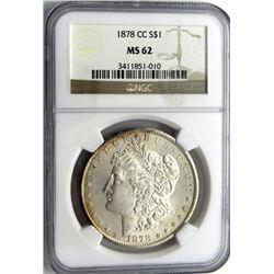 1878-CC MORGAN $ NGC MS 62