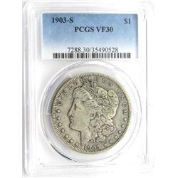 1903-S MORGAN $ PCGS VF 30