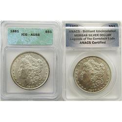 1881 ICG AU58 & 1900 ANACS BU