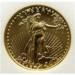 2016 1/10 ounce Fine Gold Five Dollar $5 Eagle