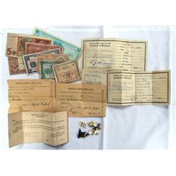 WWII SEAMANS CERTIFICATE OF IDENTIFICATION PAPER