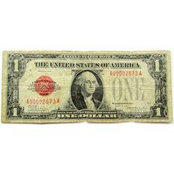 1928 $1 RED SEAL U.S. NOTE RARE