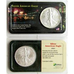 2001 & 1988 .999 SILVER EAGLES U.S. $1 COINS