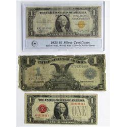 1899 BLACK EAGLE & 1935 NORTH AFRICA SILVER $ CERT