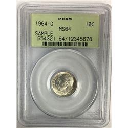 1964-D ROOSEVELT DIME PCGS MS64