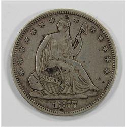 1877 SEATED HALF DOLLAR- VF/XF