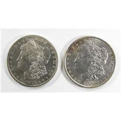 1879-S REV 79 UNC & 1889 AU/UNC MORGAN DOLLARS