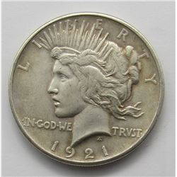 1921 PEACE DOLLAR VF