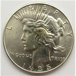 1935 PEACE SILVER DOLLAR AU/BU