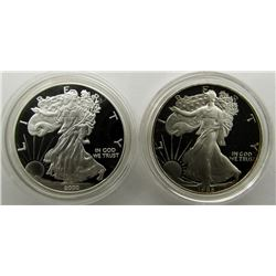 1986 & 2000 PROOF AM SILVER EAGLES