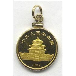 1982 GOLD PROOF PANDA