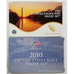 2010 & 2017 US PROOF SETS