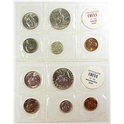1962 P&D UNC 5 COINS SETS