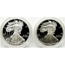 1991 & 2008 PROOF AMERICAN SILVER EAGLES