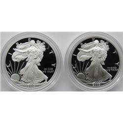 2003 & 2018 PROOF AMERICAN SILVER EAGLES