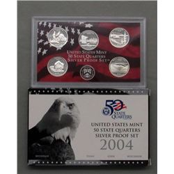2 U.S. SILVER PROOF QUARTERS SETS- 2004 & 2005