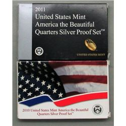2 U.S. SILVER PROOF QUARTERS SETS- 2010 & 2011