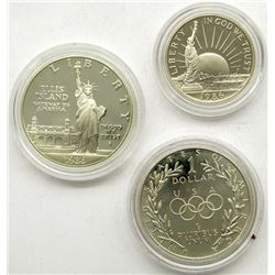 1986 STATUE of LIBERTY 2 COIN SET;