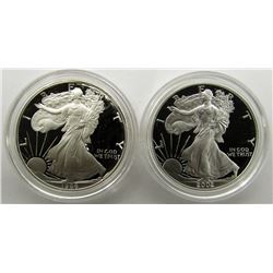 1986 & 2002 PROOF AM SILVER EAGLES