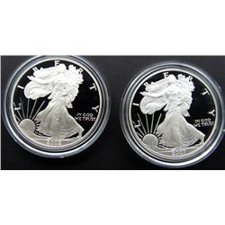 2002 & 2007 PROOF AM SILVER EAGLES