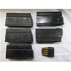 U.S. M14 MAGAZINES & GARAND CLIP- 6 ITEMS TOTAL