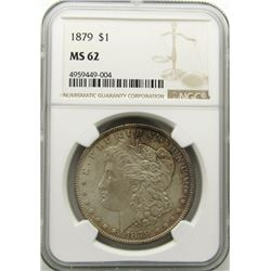 1879-P Morgan Silver Dollar $ NGC MS 62