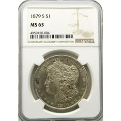 1879-S Morgan Silver Dollar $ NGC MS 63