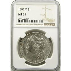 1883-O Morgan Silver Dollar $ NGC MS 61