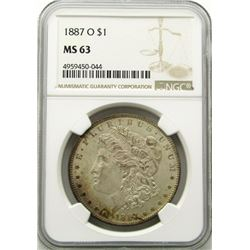 1887-O Morgan Silver Dollar $ NGC MS 63