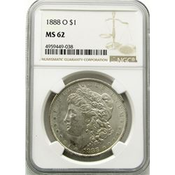 1888-O Morgan Silver Dollar $ NGC MS 62