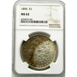 1896-P Morgan Silver Dollar $ NGC MS 63