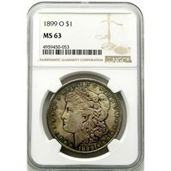 1899-O Morgan Silver Dollar $ NGC MS 63 Beautiful