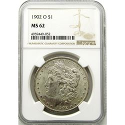 1902-O Morgan Silver Dollar $ NGC MS 62