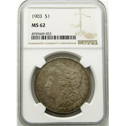 1903-P Morgan Silver Dollar $ NGC MS 62