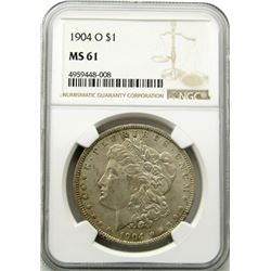 1904-O Morgan Silver Dollar $ NGC MS 61