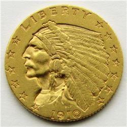 1910-P $2.5 Gold Indian Head