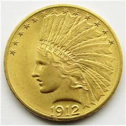 1912-P Ten Dollar $10 Gold Indian