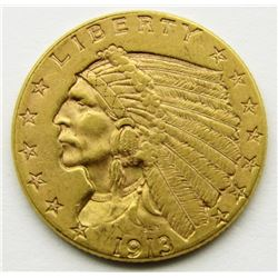 1913-P $2.5 Gold Indian Head