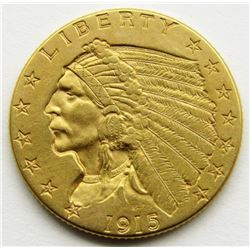 1915-P $2.5 Gold Indian Head