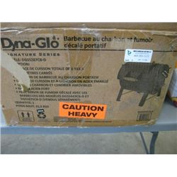 DYNA-GLO - PORTABLE CHARCOAL GRILL & OFFSET SMOKER BOX - MODEL DGSS287CB-D